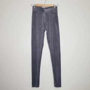 Juicy couture velour leggings grey s nwt